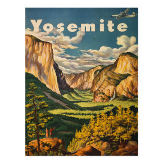Yosemite National Park - Vintage Travel postcard