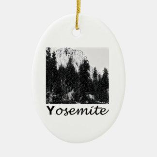 Yosemite No. 1 Black and White Ceramic Oval Decoration
