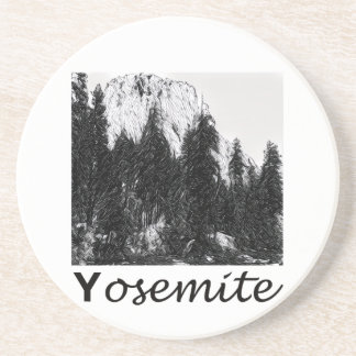 Yosemite No. 1 Black and White Coaster