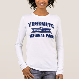 Yosemite Old Style Blue Long Sleeve T-Shirt