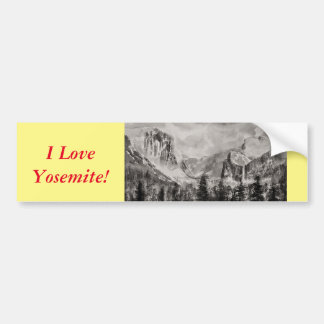 Yosemite Park in Winter Bumper Sticker