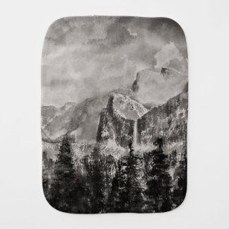Yosemite Park in Winter Burp Cloth