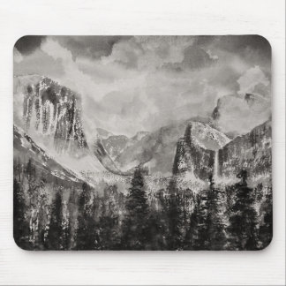 Yosemite Park in Winter Mouse Pad