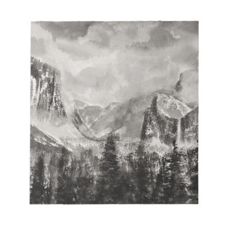 Yosemite Park in Winter Notepad