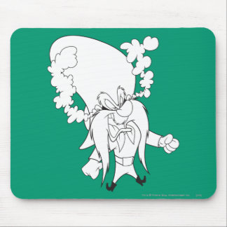 Yosemite Sam Steaming Mad Mouse Pad