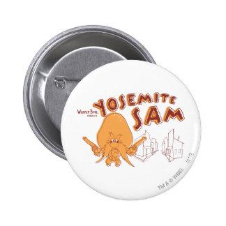 Yosemite Sam Warner Bros. Presents 6 Cm Round Badge