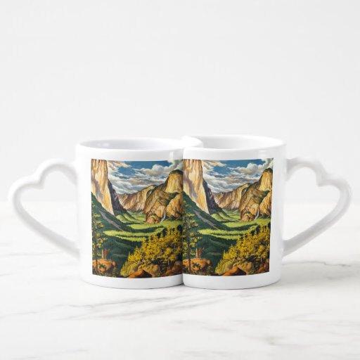 Yosemite Travel Art Couples Mug