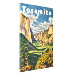 Yosemite Travel Art (Vector) Gallery Wrapped Canvas