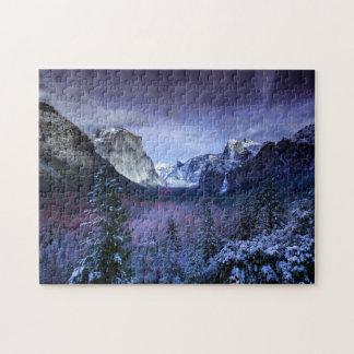 Yosemite Tunnel View Winter Snow Photo California Jigsaw Puzzle