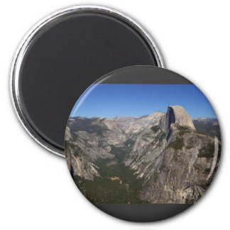 Yosemite Valley And Half Dome From Glacier Point Fridge Magnets