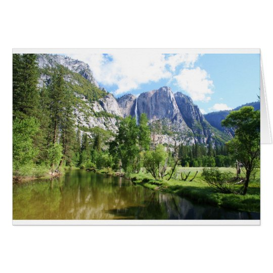 Yosemite Valley blank card