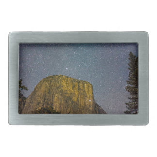 Yosemite Valley El Capitan night sky Belt Buckle