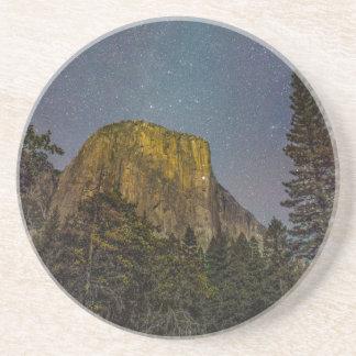 Yosemite Valley El Capitan night sky Beverage Coasters
