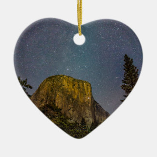 Yosemite Valley El Capitan night sky Ceramic Ornament