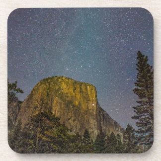 Yosemite Valley El Capitan night sky Coasters