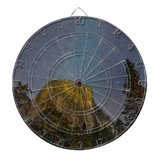 Yosemite Valley El Capitan night sky Dartboard