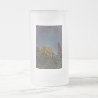 Yosemite Valley El Capitan night sky Frosted Glass Beer Mug