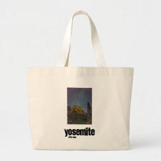 Yosemite Valley El Capitan night sky Large Tote Bag