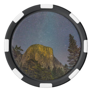 Yosemite Valley El Capitan night sky Poker Chips