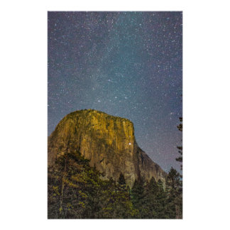 Yosemite Valley El Capitan night sky Stationery