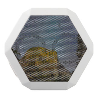 Yosemite Valley El Capitan night sky White Bluetooth Speaker