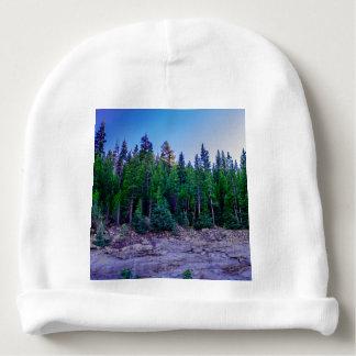 Yosemite Valley Forest & Sky Baby Beanie