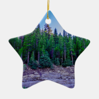 Yosemite Valley Forest & Sky Ceramic Ornament