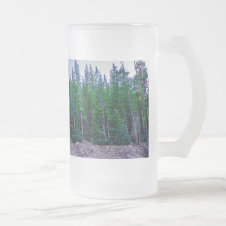Yosemite Valley Forest & Sky Frosted Glass Beer Mug