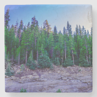 Yosemite Valley Forest & Sky Stone Beverage Coaster