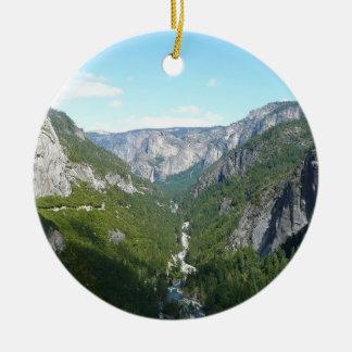 Yosemite Valley in Yosemite National Park Ceramic Ornament