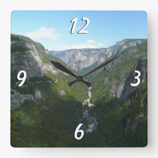 Yosemite Valley in Yosemite National Park Square Wall Clock
