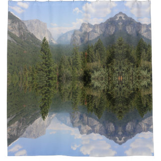 Yosemite Valley Pop Art Shower curtain