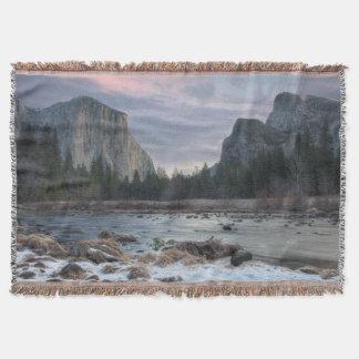Yosemite Valley Throw Blanket
