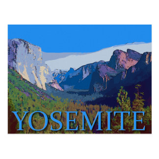 Yosemite View with Text Postcard