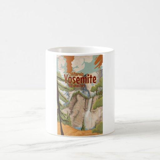 Yosemite Vintage Poster Coffee Mugs