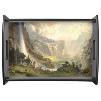 Yosemite Waterfall Valley Bierstadt Serving Tray