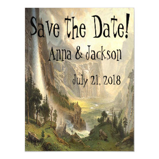 Yosemite Wilderness Falls Save Date Magnetic Card Magnetic Invitations