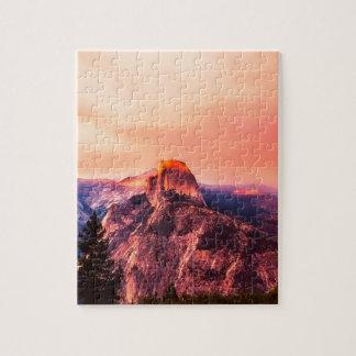 Yosemitie National Park Sundown Jigsaw Puzzle
