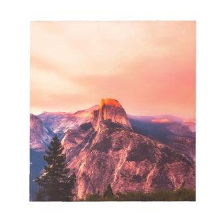Yosemitie National Park Sundown Notepad