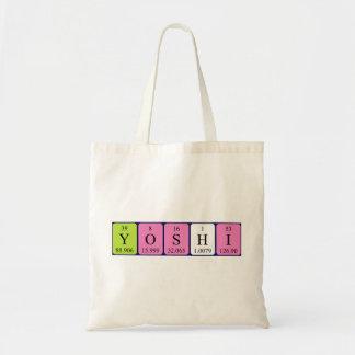 Yoshi periodic table name tote bag