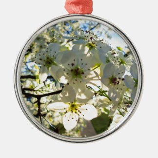Yoshino Cherry Tree Blossoms Metal Ornament