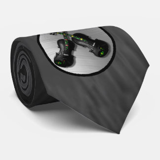 YOU ADD PHOTO OR TEXT-TIE.-CROSSED VIOLINS TIE