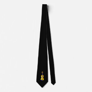 YOU ADD PHOTO OR TEXT-TIE-YELLOW VIOLIN TIE