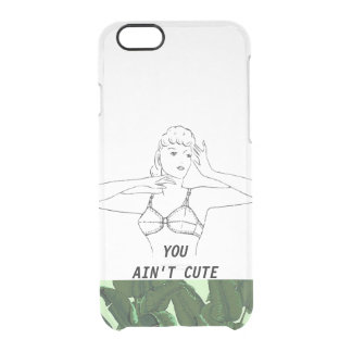 You Ain't Cute Minimal Funny Vintage