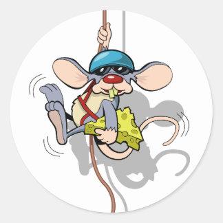 You Ain't Seen Me Climbing Rat Classic Round Sticker