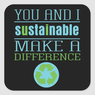 You and I Sustainable Square Stickers