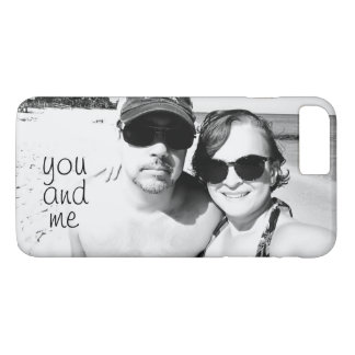 You and Me Cute Personalized Couple Picture iPhone 8 Plus/7 Plus Case