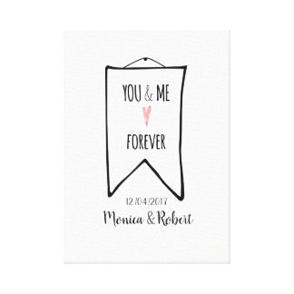 You and me forever romantic love print