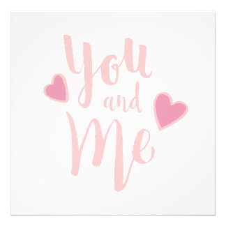 You and Me - Hand Lettering Typography Design Art Photo