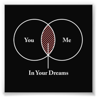 You and Me In Your Dreams Venn Diagram Photo Print